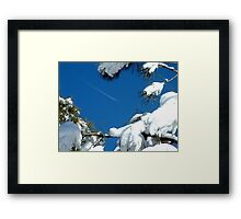 Winter Contrail Framed Print