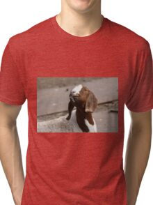 Happy Goat  Tri-blend T-Shirt