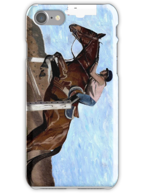 Horse Jumper iPhone Case by Patricia Barmatz