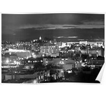San Francisco Nights B&W Poster