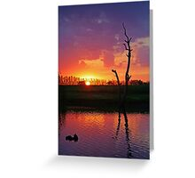 Sunset at Elmore Greeting Card