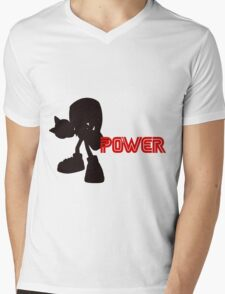 Power Type: Knuckles Mens V-Neck T-Shirt