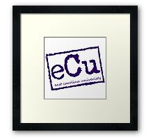 ECU - Purple Framed Print