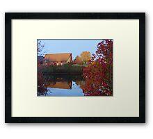chapel's reflection  Framed Print