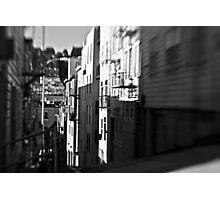 B&W Alley Photographic Print