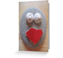 Red Mouth Greeting Card