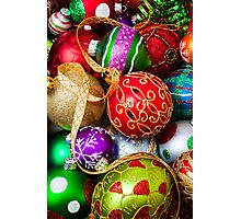 Assorted beautiful ornaments Photographic Print