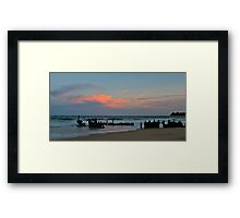 Sunset at the SS Dicky Framed Print
