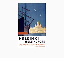 Helsinki Vintage Travel Poster Restored Unisex T-Shirt