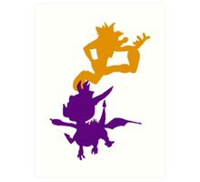 Spyro and Crash Art Print