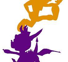 Spyro and Crash by WOLFFANGFIST