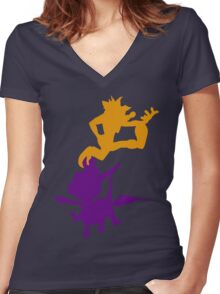 Spyro and Crash Women's Fitted V-Neck T-Shirt