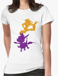 Spyro and Crash Womens Fitted T-Shirt