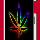 rainbow weed iphone case by grafidiU
