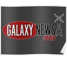 Galaxy News Radio Logo Poster