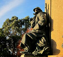 Detail of the Northernhay war memorial, Exeter by buttonpresser
