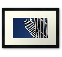 In the midst of the blue sky. Framed Print