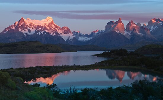 Patagonian Sunrise, Torres del Paine National Park, Chile by Coreena Vieth