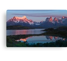 Patagonian Sunrise, Torres del Paine National Park, Chile Canvas Print
