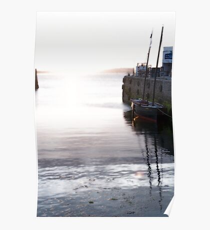 Early on a calm morning in Penzance Poster