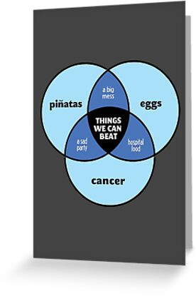 We Can Beat It | Funny Motivational Cancer Diagram by BootsBoots