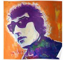 Bob Dylan Pop Art Portrait -Painting by William Wright Poster