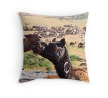 Pushkar Camels Throw Pillow