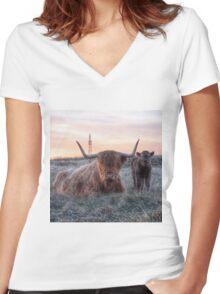 Family portrait Women's Fitted V-Neck T-Shirt