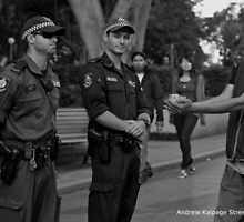 Occupy Sydney Protest Pt 4 (A Peace Offering) by Andrew Kalpage