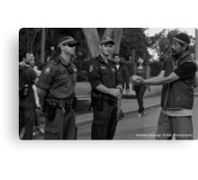 Occupy Sydney Protest Pt 4 (A Peace Offering) Canvas Print