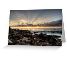 Bungan Beach Sunrise Sunrays Greeting Card