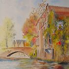 Bruges - the canal in Autumn by Beatrice Cloake