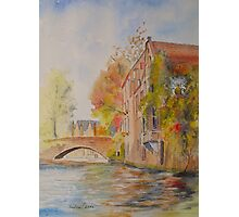 Bruges - the canal in Autumn Photographic Print