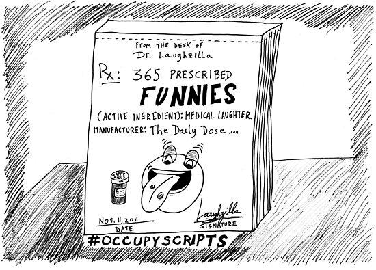 Occupy Scripts editorial cartoon by bubbleicious