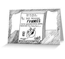 Occupy Scripts editorial cartoon Greeting Card