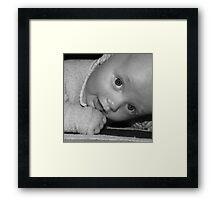 BABY JAMES Framed Print