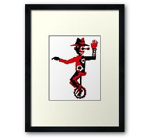 Self Balance surreal black and red pen ink drawing  Framed Print