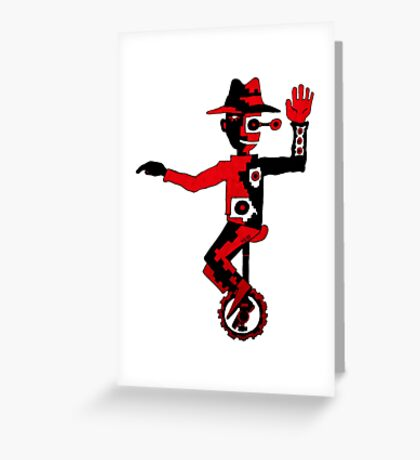 Self Balance surreal black and red pen ink drawing  Greeting Card