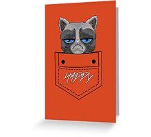 Happy pocket cat Greeting Card