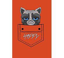 Happy pocket cat Photographic Print