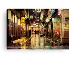 Wanker Lane, in the Rain Canvas Print