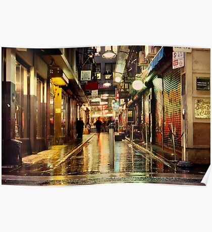 Wanker Lane, in the Rain Poster