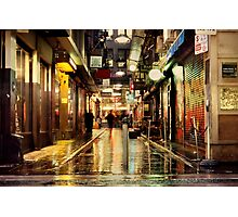 Wanker Lane, in the Rain Photographic Print