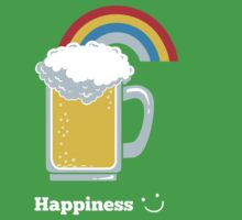Happiness | Cute Beer with Rainbow Kids Tee