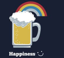 Happiness | Cute Beer with Rainbow One Piece - Long Sleeve