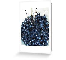 Washing Blueberries Greeting Card