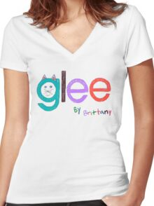 Glee by Brittany  Women's Fitted V-Neck T-Shirt