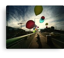 A Prayer on a Bridge Canvas Print