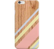 the wood lines iPhone Case/Skin