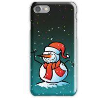 Grinning Snowman iPhone Case/Skin